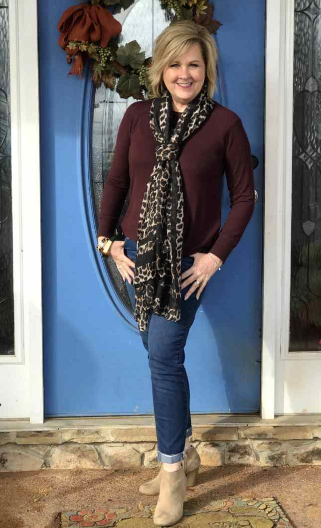 50 IS NOT OLD | CUFFED JEANS AND ANKLE BOOTS | FASHION OVER 40