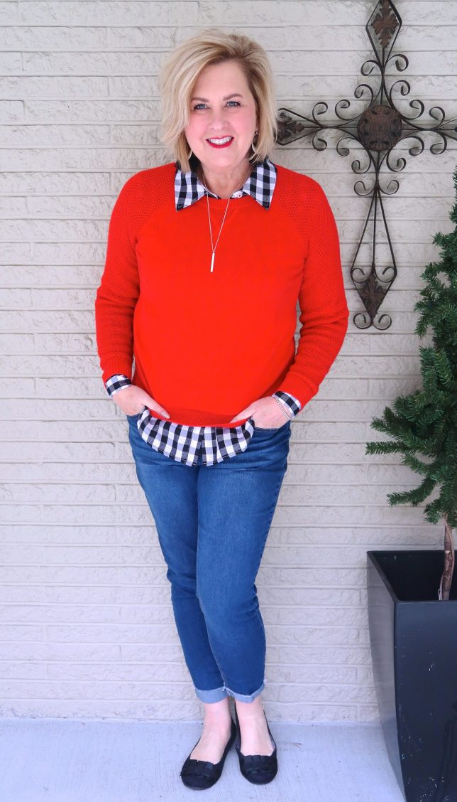 50 IS NOT OLD | A PULLOVER SWEATER AND A BUTTON-DOWN SHIRT | FASHION OVER 40