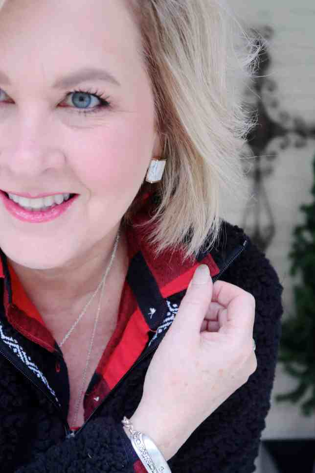 50 IS NOT OLD | HOW TO STYLE A SHERPA PULLOVER | FASHION OVER 40