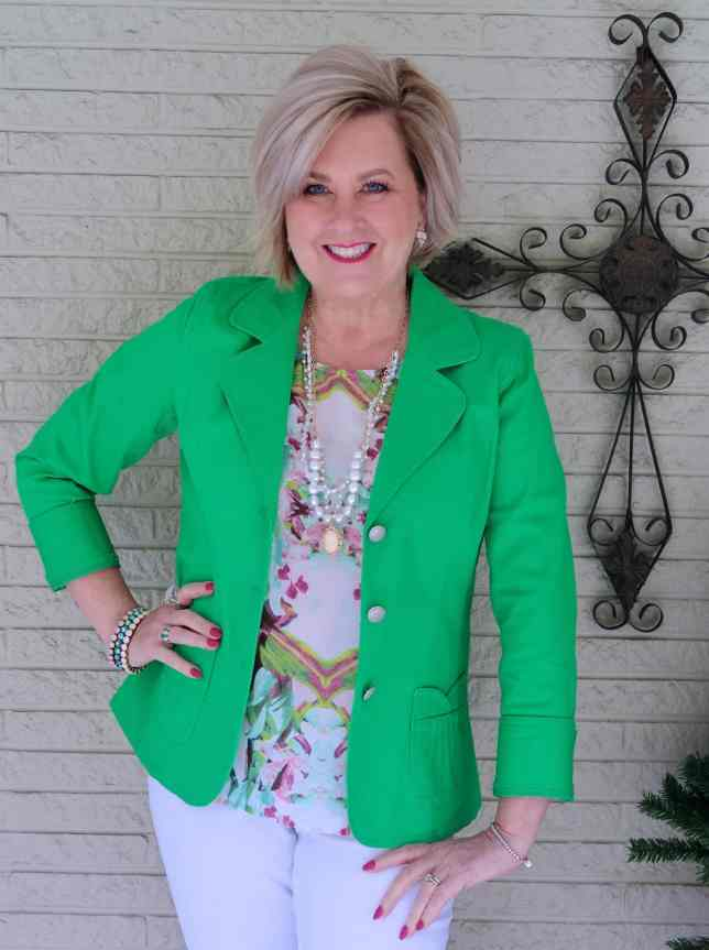 50 IS NOT OLD | HOW TO WEAR GREEN | FASHION OVER 40