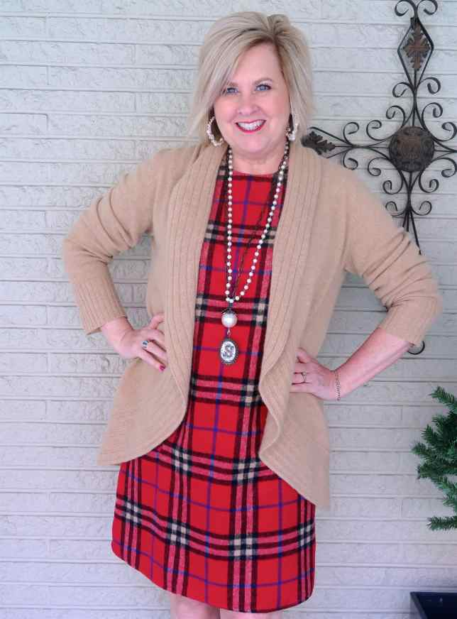 50 IS NOT OLD | WEARING A SHIFT DRESS WITH KNEE BOOTS | FASHION OVER 40