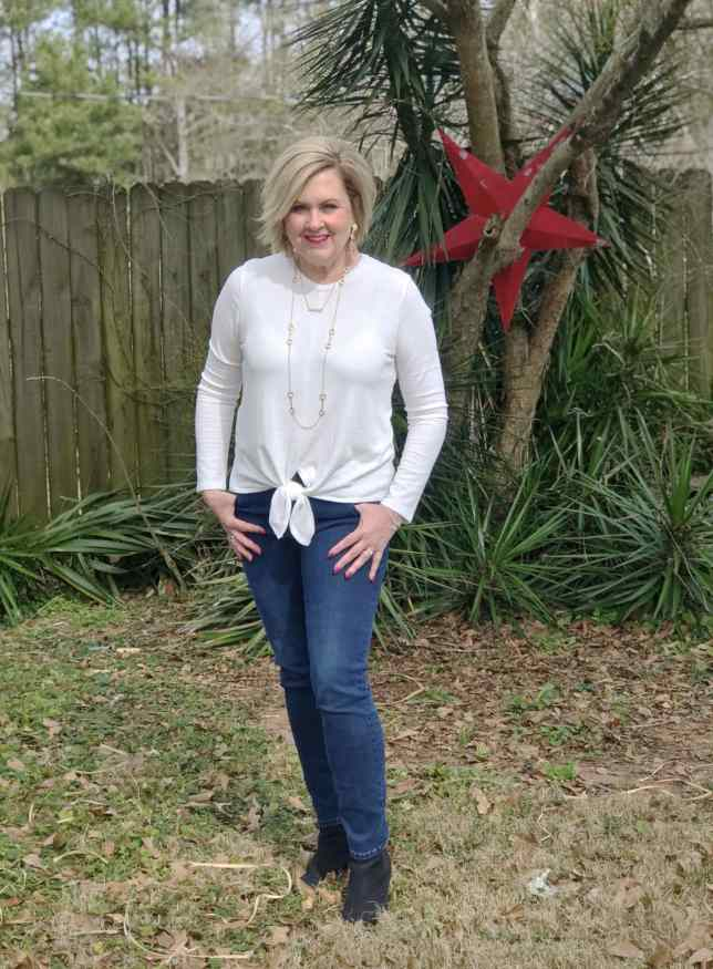 50 IS NOT OLD | WHY YOU NEED A WHITE TOP FOR SPRING | FASHION OVER 40