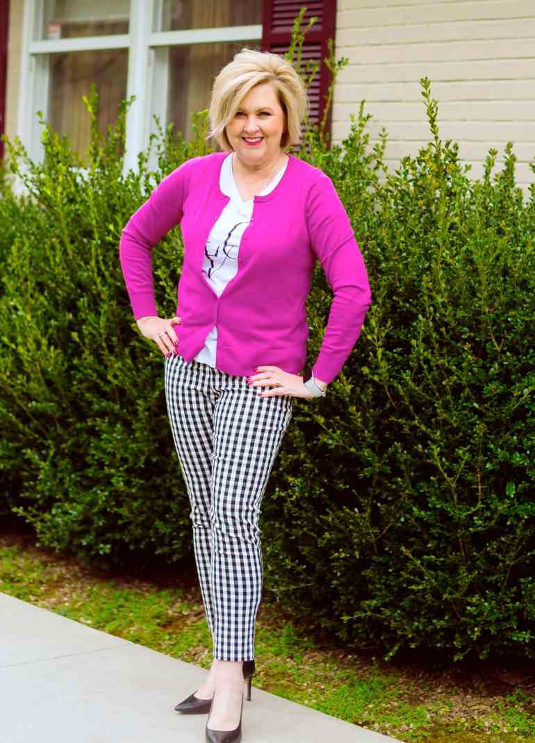50 IS NOT OLD | ADDING A POP OF COLOR TO BLACK AND WHITE | FASHION OVER 40