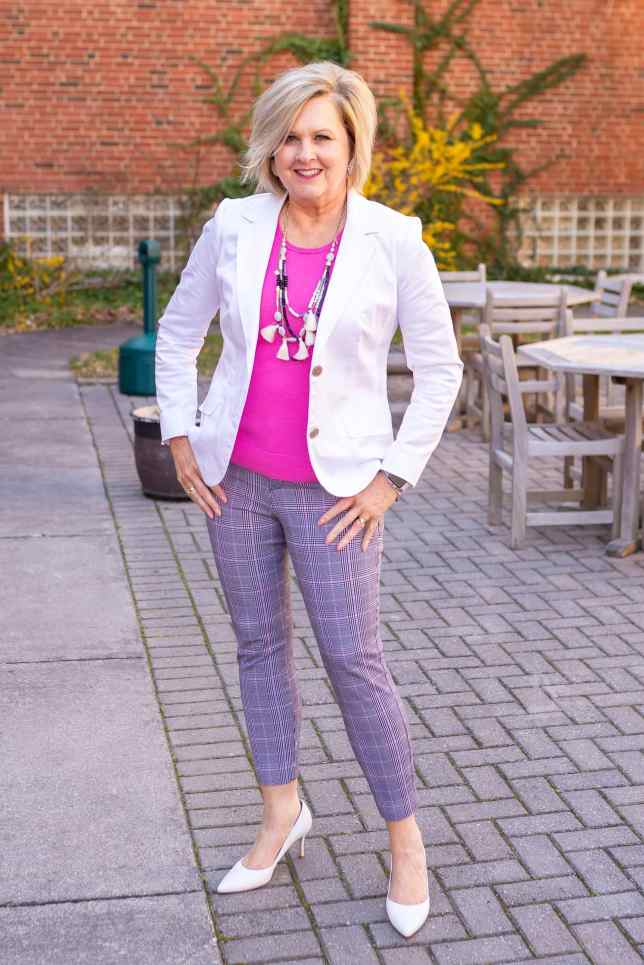 50 IS NOT OLD | WHY YOU NEED A WHITE JACKET FOR SUMMER | FASHION OVER 40