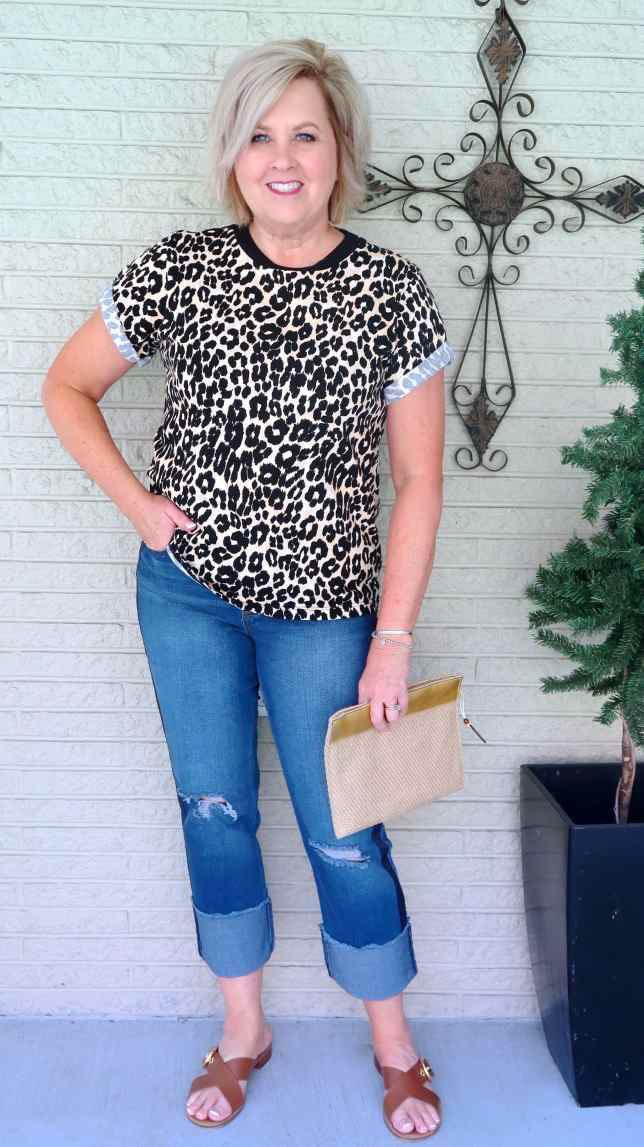 50 IS NOT OLD   SIDE STRIPED JEANS   FASHION OVER 40