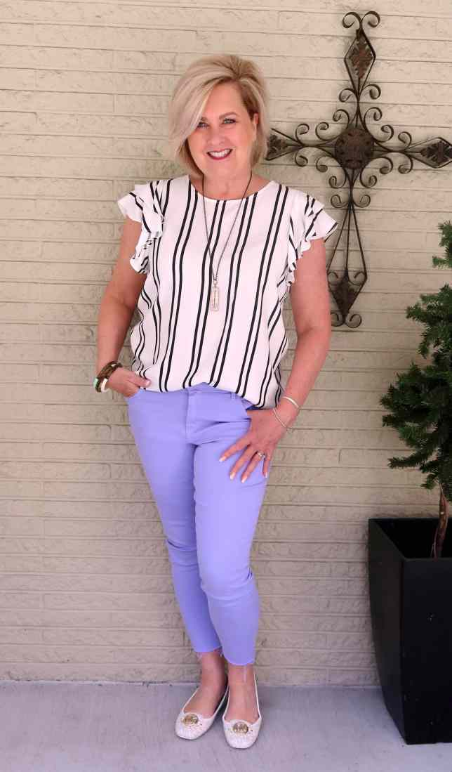 50 IS NOT OLD | HOW TO WEAR BLACK AND WHITE WITH COLOR | FASHION OVER 40