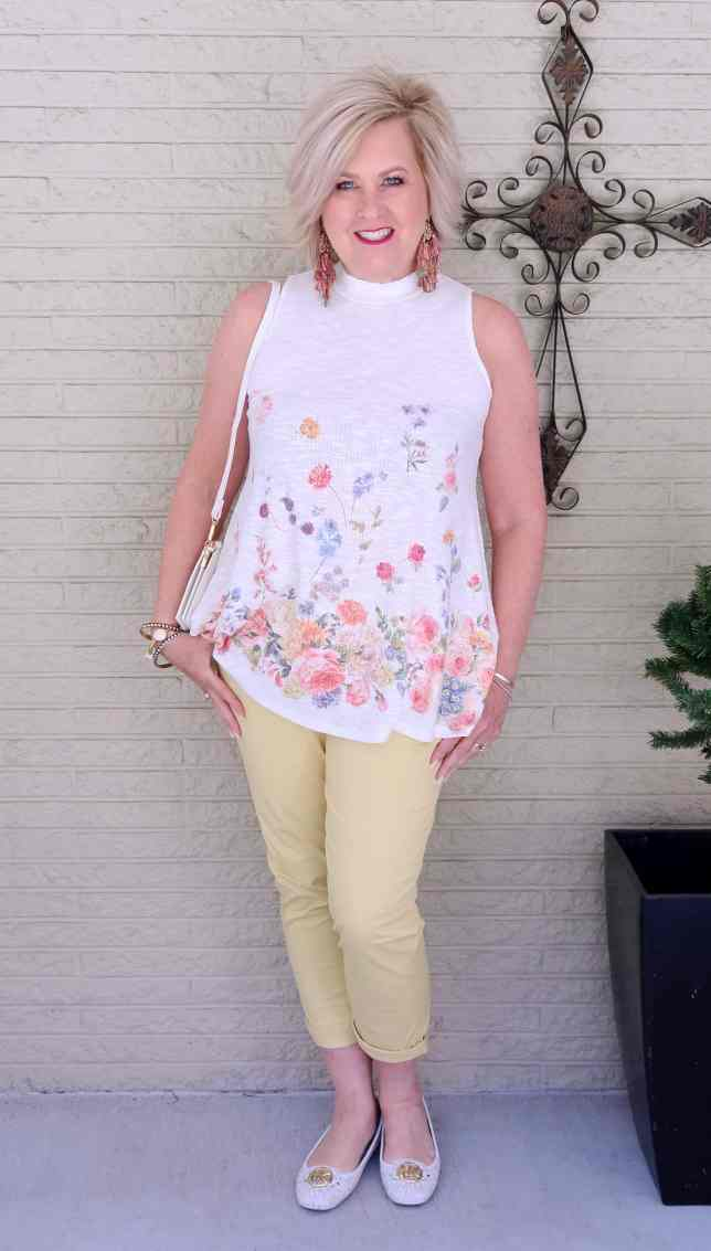 50 IS NOT OLD | GIRLFRIEND PANTS AND A FLORAL TOP | FASHION OVER 40