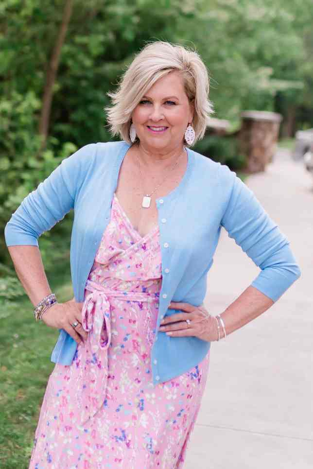 50 IS NOT OLD | WEARING PINK AND BLUE TOGETHER | FASHION OVER 40