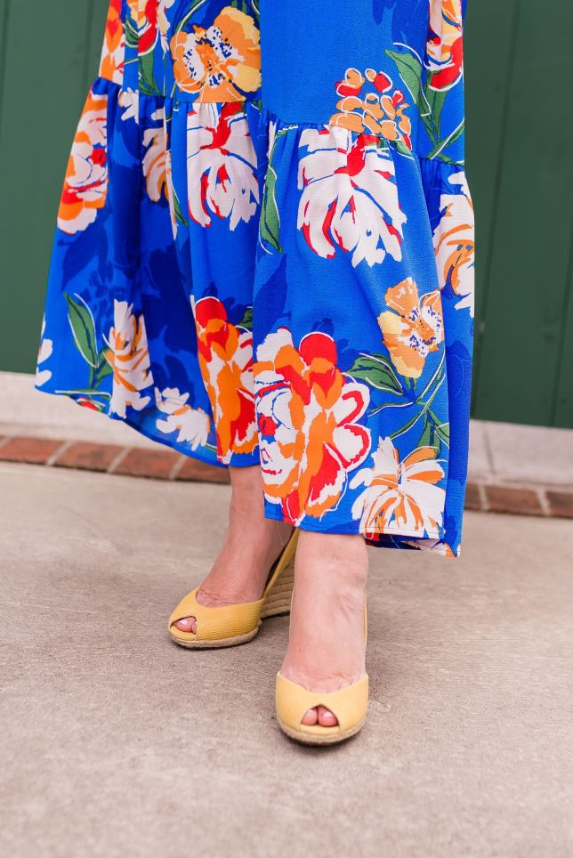50 IS NOT OLD | FLORAL MAXI DRESS THAT SCREAMS SUMMER | FASHION OVER 40