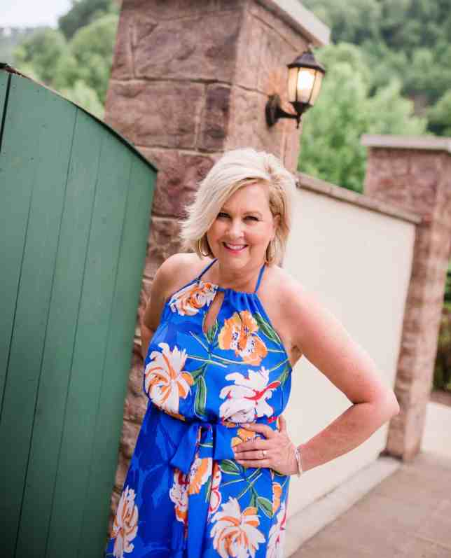 50 IS NOT OLD   FLORAL MAXI DRESS THAT SCREAMS SUMMER   FASHION OVER 40