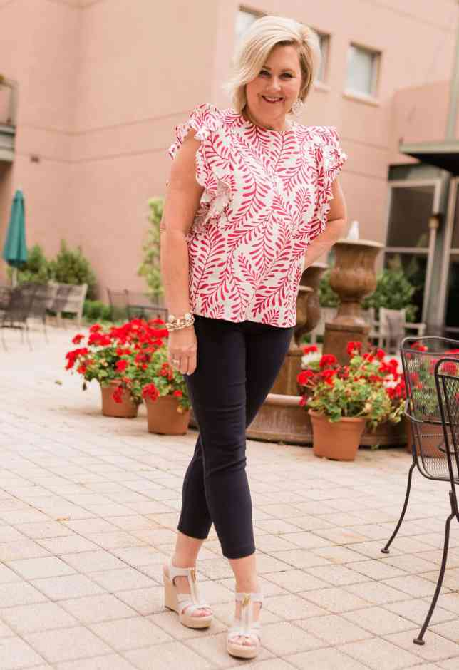 50 IS NOT OLD | DOUBLE RUFFLES FOR A FEMININE LOOK | FASHION OVER 40