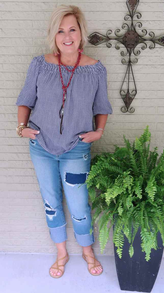 50 IS NOT OLD | DISTRESSED JEANS WITH NO HOLES | FASHION OVER 50