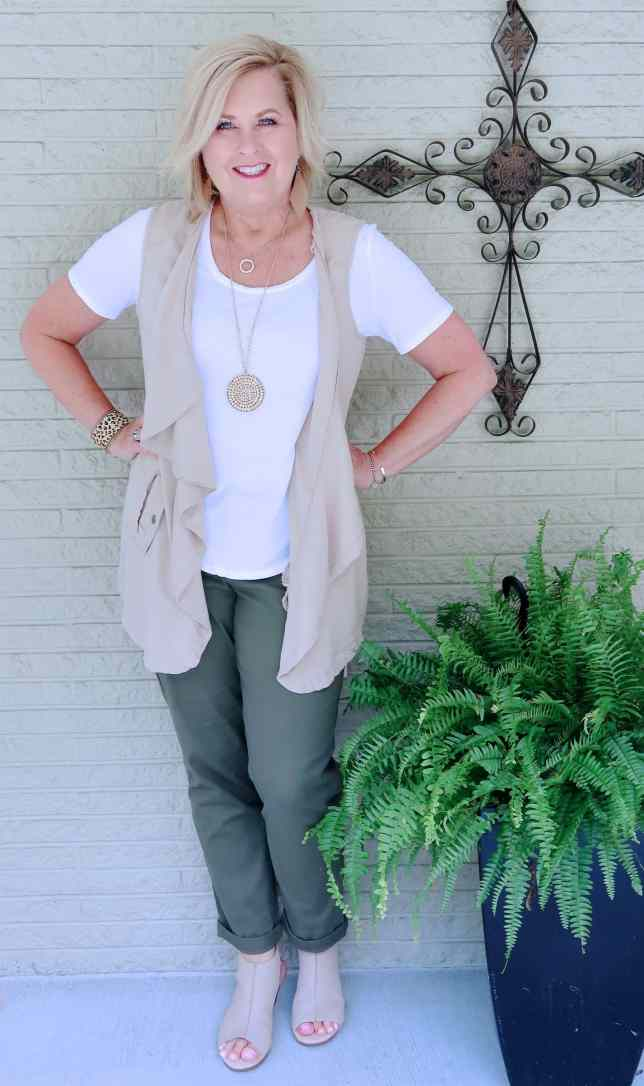 50 IS NOT OLD | A UTILITY VEST WITH A FEMININE FLARE | FASHION OVER 40