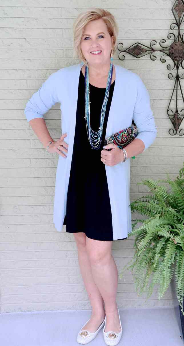 50 IS NOT OLD | BLACK AND BLUE FOR A SPRING STYLE | FASHION OVER 40