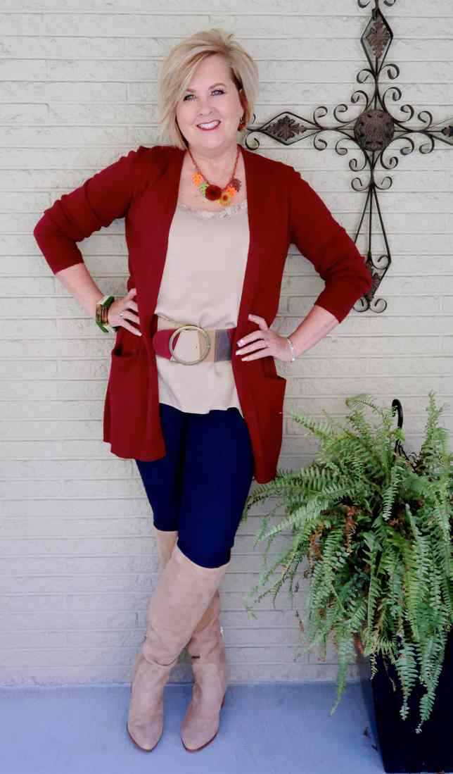 50 IS NOT OLD | SUEDE OVER THE KNEE BOOTS FOR FALL | FASHION OVER 40