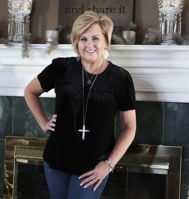 Black Velvet top by Gibson worn by Fashion Blogger 50 Is Not Old
