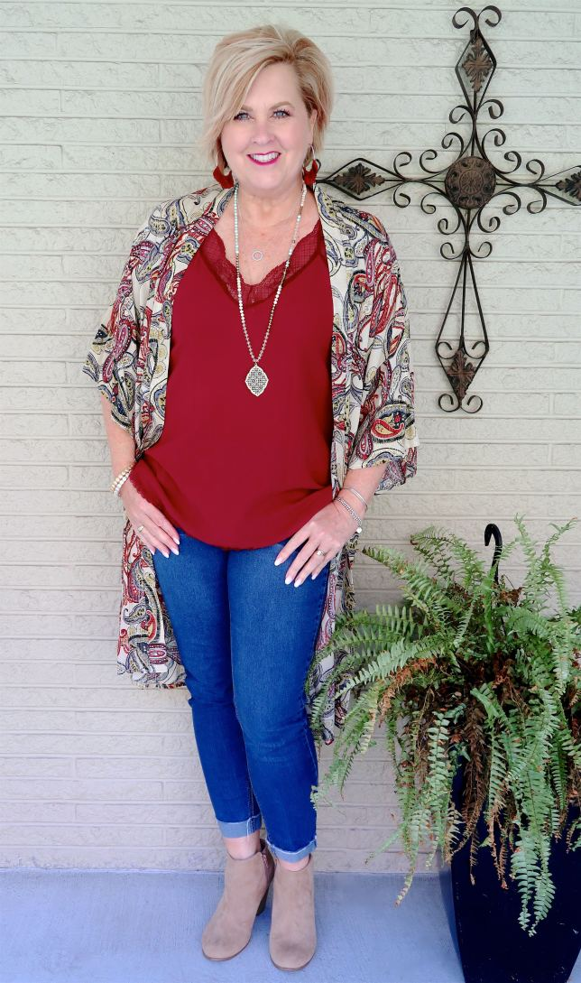 50 IS NOT OLD   HOW TO WEAR CUFFED JEANS WITH ANKLE BOOTS   FASHION OVER 40