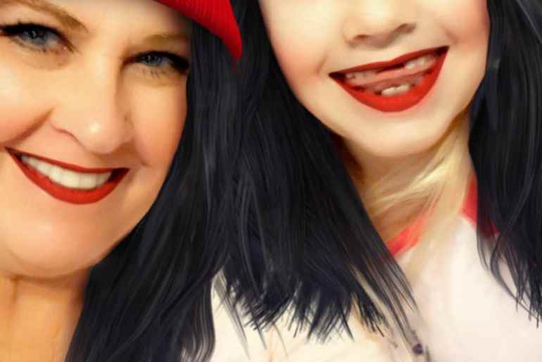 Happy Thanksgiving with granddaughter