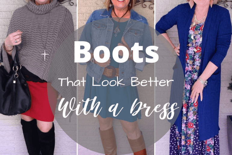 Different dress with boots