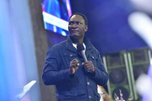 Pastor Jeremiah Fufeyin during ministration  god of christ mercyland - IMG 20200814 WA0012 300x200 - I was faced with death and Optionless, Until The God Of Christ MercyLand showed up- Sis Faith Victor expunged Of Odious Skin Condition [Watch Video]
