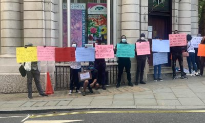 Protesting NANS Students In UK Nigeria High Comm staff ordered for our arrest over a peaceful protest at the Commission -NANS UK Leader - IMG 20200803 175931 - Nigeria High Comm staff ordered for our arrest over a peaceful protest at the Commission -NANS UK Leader