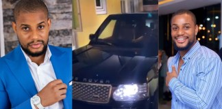 """It's better to give than to receive""- Actor Alex Ekubo says as he celebrates his good friend who gifted him a Range Rover"