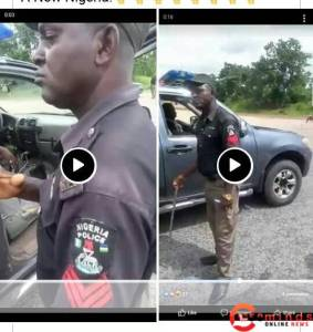 Nigerian police see how nigerian army beats up a police extorting money from people (video) See how Nigerian army beats up a police extorting money from people (VIDEO) 20201016 102837 1 283x300 see how nigerian army beats up a police extorting money from people (video) See how Nigerian army beats up a police extorting money from people (VIDEO) 20201016 102837 1