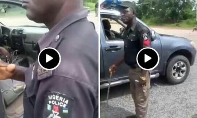 Nigerian police see how nigerian army beats up a police extorting money from people (video) - 20201016 102837 1 - See how Nigerian army beats up a police extorting money from people (VIDEO)