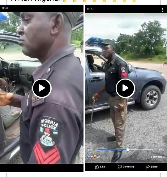 Nigerian police see how nigerian army beats up a police extorting money from people (video) See how Nigerian army beats up a police extorting money from people (VIDEO) 20201016 102837 1