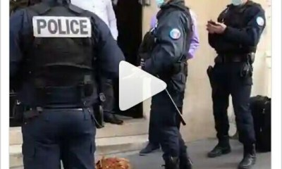 """France police weird! france police in shock to find """"sacrifice"""" in front of the nigerian embassy in their country - 20201020 170918 1 - Weird! France Police in shock to find """"sacrifice"""" in front of the Nigerian embassy in their country"""