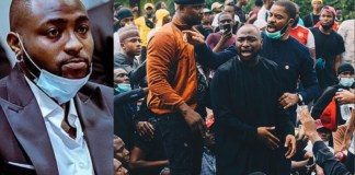 """""""It is painful that what started as a peaceful protest has been hijacked and turned into complete Anarchy""""- Davido laments"""