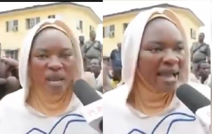 """they said i burnt police station, i didn't do anything""- mother of four arrested alongside other women cries out - 20201029 103033 1603963891734 - ""They said I burnt police station, I didn't do anything""- Mother of four arrested alongside other women cries out"