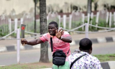 thugs Benin White House Prison Break; 5 Signs It A Planned Work thugs - EkXi1NyXcAIQh9s - Face of Thugs leader That came to Dispel Peaceful Protesters At Alausa