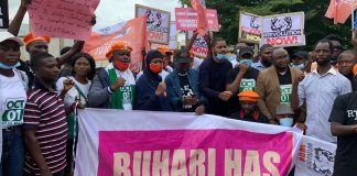 Pictures of Revolution Now Protesters in Abuja