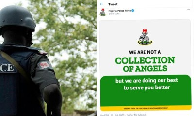 nigeria police - InShot 20201027 042259370 1603769013754 - NIGERIA POLICE: We Are Not A Collections of Angels; Nigerians React