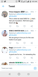 Once SARS Officers Received Praise From Nigerians: Here is The Reason sars officers - Screenshot 20201003 090207 150x300 - SARS Officers Received Praise From Nigerians: Here is The Reason sars officers - Screenshot 20201003 090207 - SARS Officers Received Praise From Nigerians: Here is The Reason