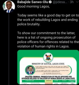 good news for #endsars protesters as sanwo-olu releases identity of police under prosecution - Screenshot 20201023 104139 1 277x300 - Good news for #EndSARS protesters as Sanwo-Olu releases identity of police under prosecution good news for #endsars protesters as sanwo-olu releases identity of police under prosecution - Screenshot 20201023 104139 1 - Good news for #EndSARS protesters as Sanwo-Olu releases identity of police under prosecution