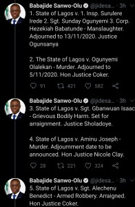 good news for #endsars protesters as sanwo-olu releases identity of police under prosecution - Screenshot 20201023 104204 1 196x300 - Good news for #EndSARS protesters as Sanwo-Olu releases identity of police under prosecution good news for #endsars protesters as sanwo-olu releases identity of police under prosecution - Screenshot 20201023 104204 1 - Good news for #EndSARS protesters as Sanwo-Olu releases identity of police under prosecution