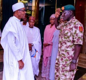 Buratai & Buhari president buhari rejects buratai's request to deploy soldiers for #endsars President Buhari Rejects Buratai's Request To Deploy Soldiers For #EndSARS images 2020 10 15T153422 president buhari rejects buratai's request to deploy soldiers for #endsars President Buhari Rejects Buratai's Request To Deploy Soldiers For #EndSARS images 2020 10 15T153422