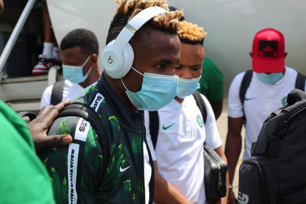 Super Eagles players arriving Sierra Leone ahead of their Tuesday encounter afcon - 20201116 164550 scaled - AFCON: Super Eagles arrive Sierra Leone ahead of Tuesady tie with Leone Stars