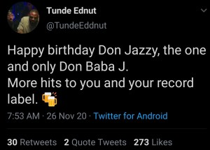 auto draft - Screenshot 20201126 091837 1 300x215 - Don Baba J: Don Jazzy 37th birthday to be celebrated in grand style auto draft - Screenshot 20201126 091837 1 - Don Baba J: Don Jazzy 37th birthday to be celebrated in grand style
