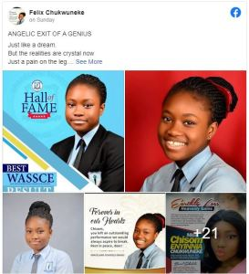 Heartbreaking: 17-year-old Girl who got A1 in all subjects In WAEC Is dead. auto draft - chukwuneke 273x300 - Heartbreaking: 17-year-old Girl Who Got A1 In All Subjects In WAEC Is Dead (Photo) auto draft - chukwuneke - Heartbreaking: 17-year-old Girl Who Got A1 In All Subjects In WAEC Is Dead (Photo)