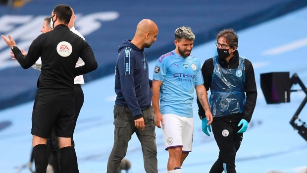 Manchester City Close down Training Ground; Game With Everton Postponed. manchester city - sergio aguero - Manchester City Close down Training Ground; Game With Everton Postponed