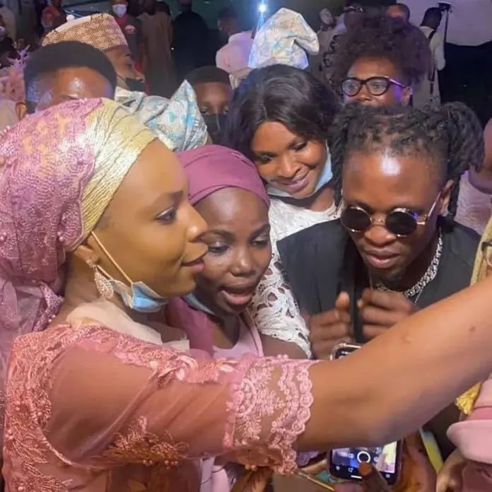 laycon bbnaija - laycon - BBNaija star, Laycon gets Bombarded By Guests at Dimeji Bankole's wedding