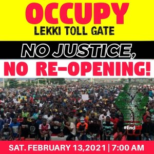 Nigerian youths fixed date to resume protest at Lekki Toll gate police brutality - 20210208 151845 300x300 - Police Brutality : Nigerian youths fixed date to resume  protest at Lekki toll gate again police brutality - 20210208 151845 - Police Brutality : Nigerian youths fixed date to resume  protest at Lekki toll gate again