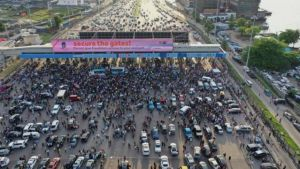 police brutality - 20210208 151936 300x169 - Police Brutality : Nigerian youths fixed date to resume  protest at Lekki toll gate again