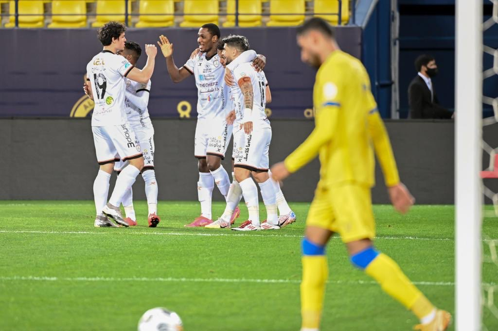 Odion Ighalo celebrates after scoring his first goal for Al-Shabab football - 20210213 232008 - Football: Nigerian player, Odion Ighalo, off the mark for his new team  in Saudi Arabia