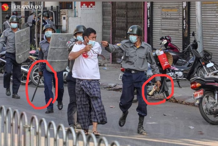 auto draft - EuQyuuXVcAMHkG0 - Police break up peaceful protest in Mandalay, Myanmar