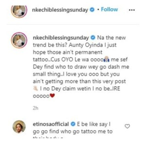 - Screenshot 20210225 104022 1 300x297 - Nkechi Blessing Sunday Finally Tenders Apologies To Follower Who Tattooed Her Name On Her Arm  - Screenshot 20210225 104022 1 - Nkechi Blessing Sunday Finally Tenders Apologies To Follower Who Tattooed Her Name On Her Arm