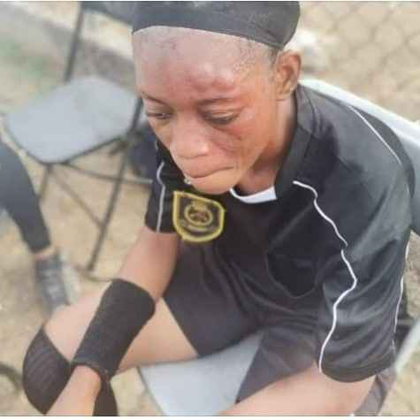 female referee mercilessly beaten up by a female footballer - football - Female Referee Mercilessly Beaten Up By A Female Footballer